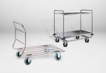 Edelstahlwagen und Aluminiumwagen
