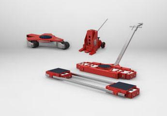 Maschinenheber und Transportfahrwerke